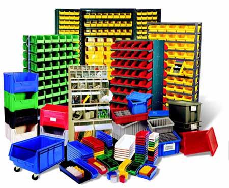 plastic storage units