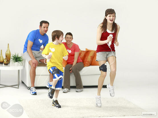 Family playing Wii