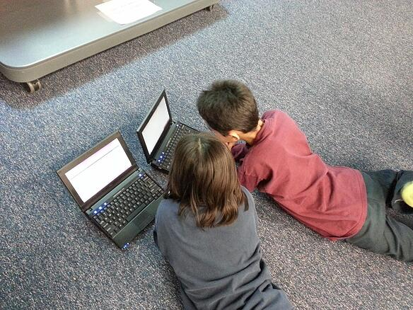 kids connecting on computers