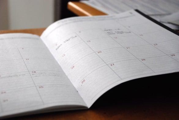 calendar declutter
