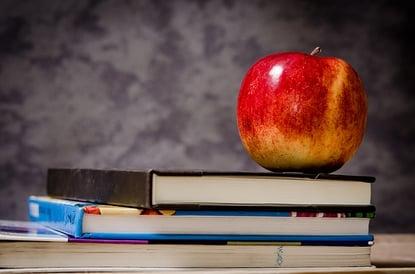 apple and school books