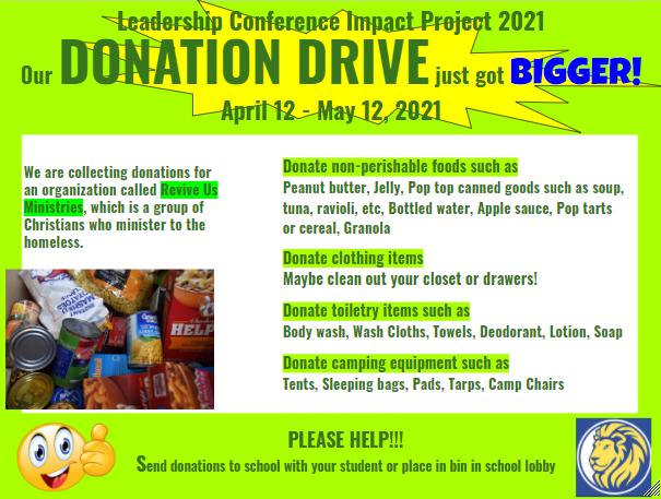 IMPACT donation flyer 2