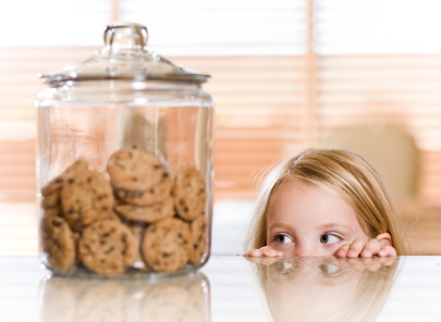 kid stealing cookies